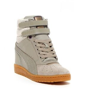 Puma Sky Wedge Leather Sneaker 6.5
